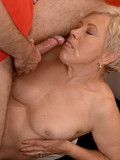 Two bushy mature ladies get their fuck holes stuffed by two men in the hotel roo
