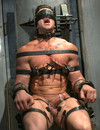 Hot gay guy in restraints Trenton Ducati gets  his balls and hard dick tortured