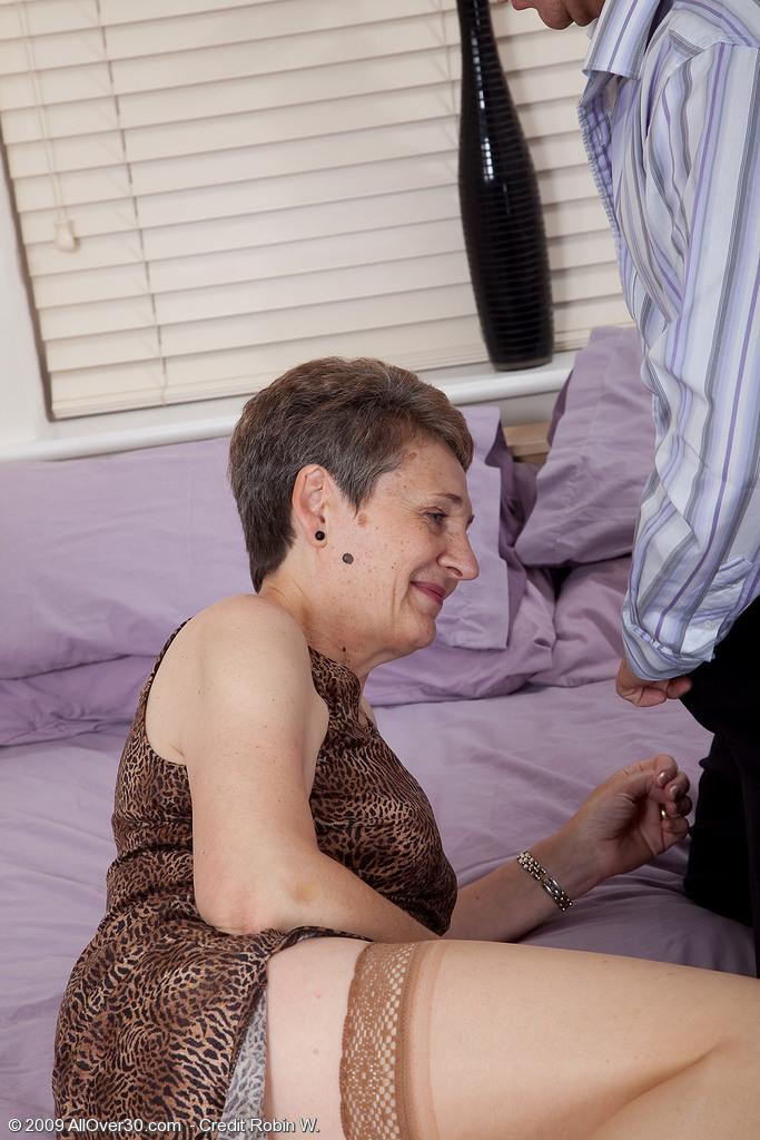 Short hair granny porn