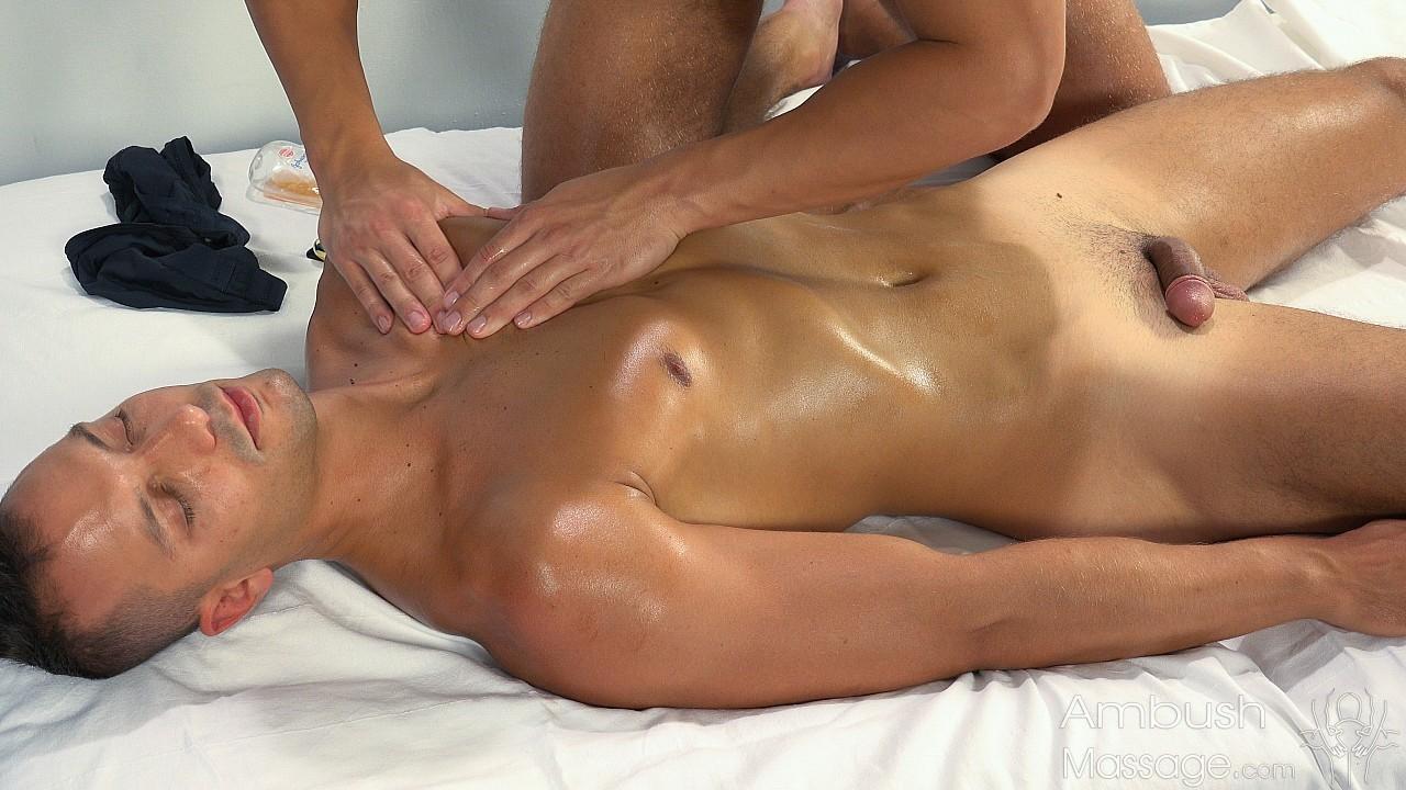 Two girls massage blowjob