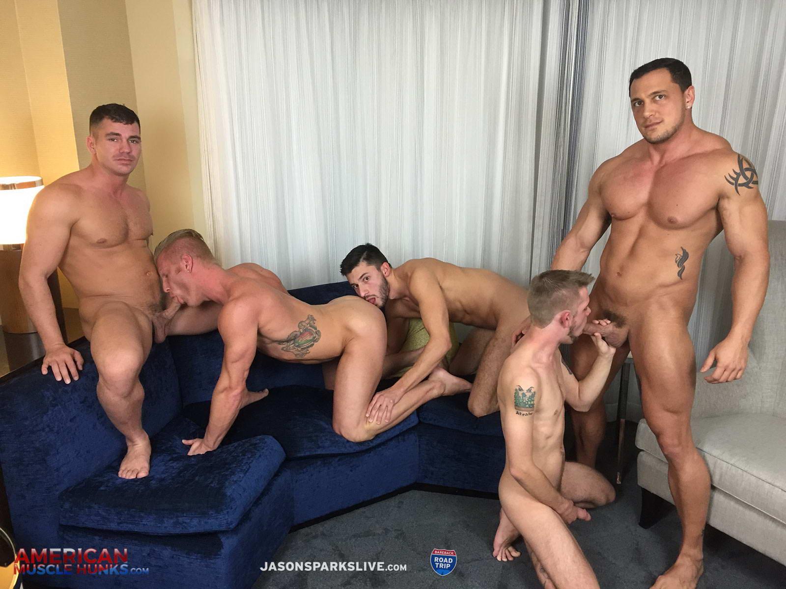 Muscle bareback orgy
