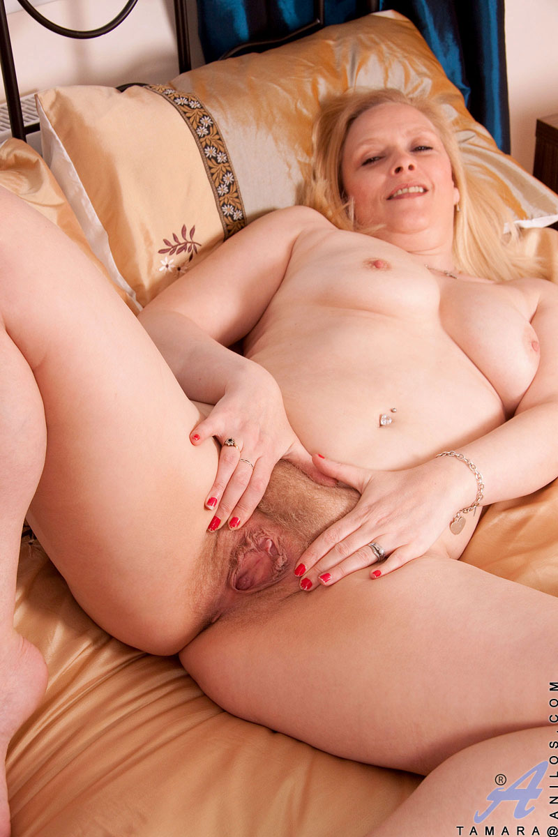 Pale blonde milf naked
