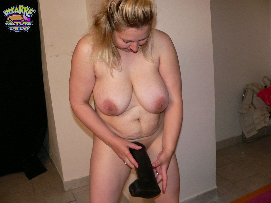 Shaved bbw has her pussy dildoed