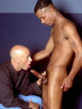 Salacious guys blow each other's piston and then black dude drills his lover's a