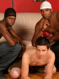 Horny couple of young black guys heavily rams their lover�s ass hole in all pose