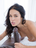 Keisha Grey takes cumshot on her face after getting her pussy banged hard by big dicked black dude