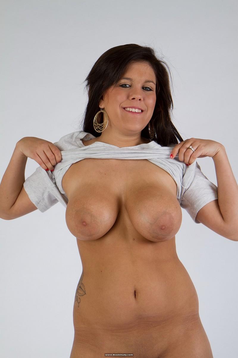 Brunette with big veiny boobs