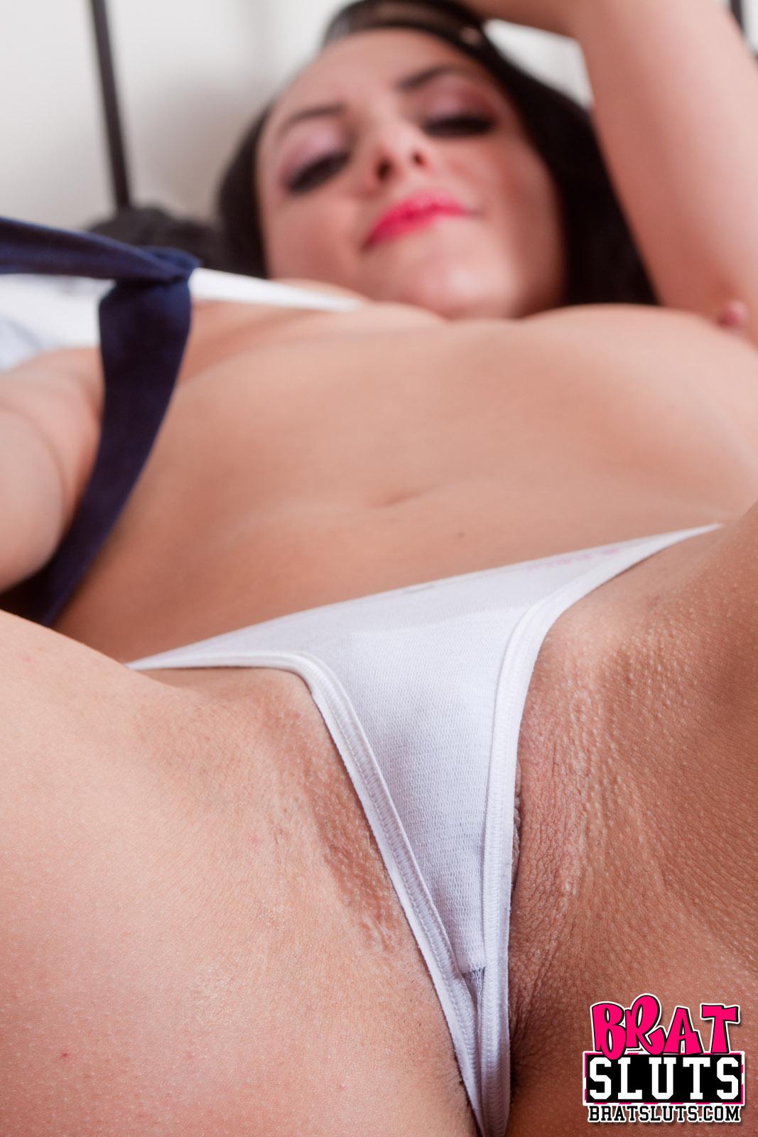 Sluts in white panties