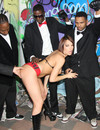 White bitch Dana Dearmond shows her love for cocksucking, black cocks and sperm