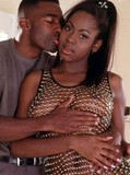 Black stud has his schlong sucked and fondled by tongue of sultry chocolate chic