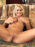 Juicy breasted blonde bombshell shows her fine body and gets fucked in every hole by her dark lover