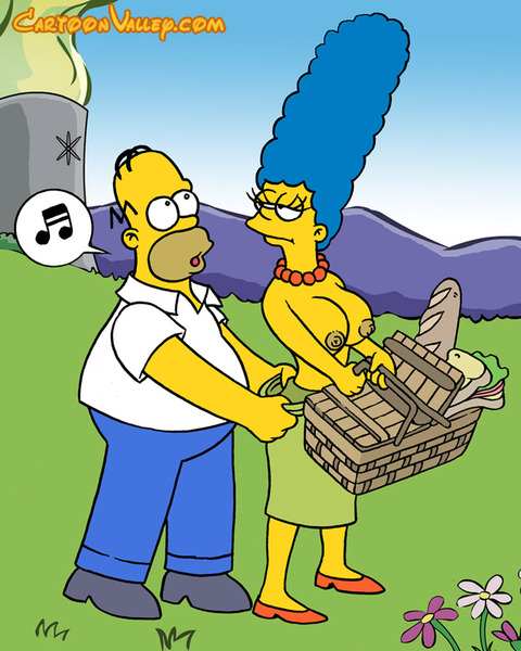 This XXX porn cartoon features Simpsons characters having ...