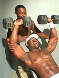 Two black hunks jerking off on cam