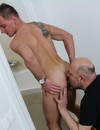 Older gay man and a skinny young guy suck each others dick and lick each others asses