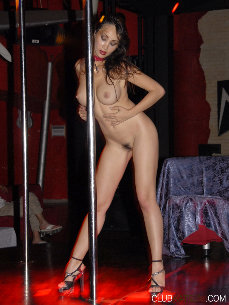 Nude asian striptease