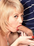 Charming granny Dixie Reynolds loves sucking cock and getting fingered