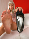 Adorable Pavla showing sweet toes