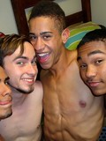 Dorm guys get party before they play amazing gay games and enjoy the orgy