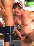 Handsome Antonio sucking cock-cream