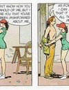Smudgy action in comics with brunette tying her professor and masturbating in front of him