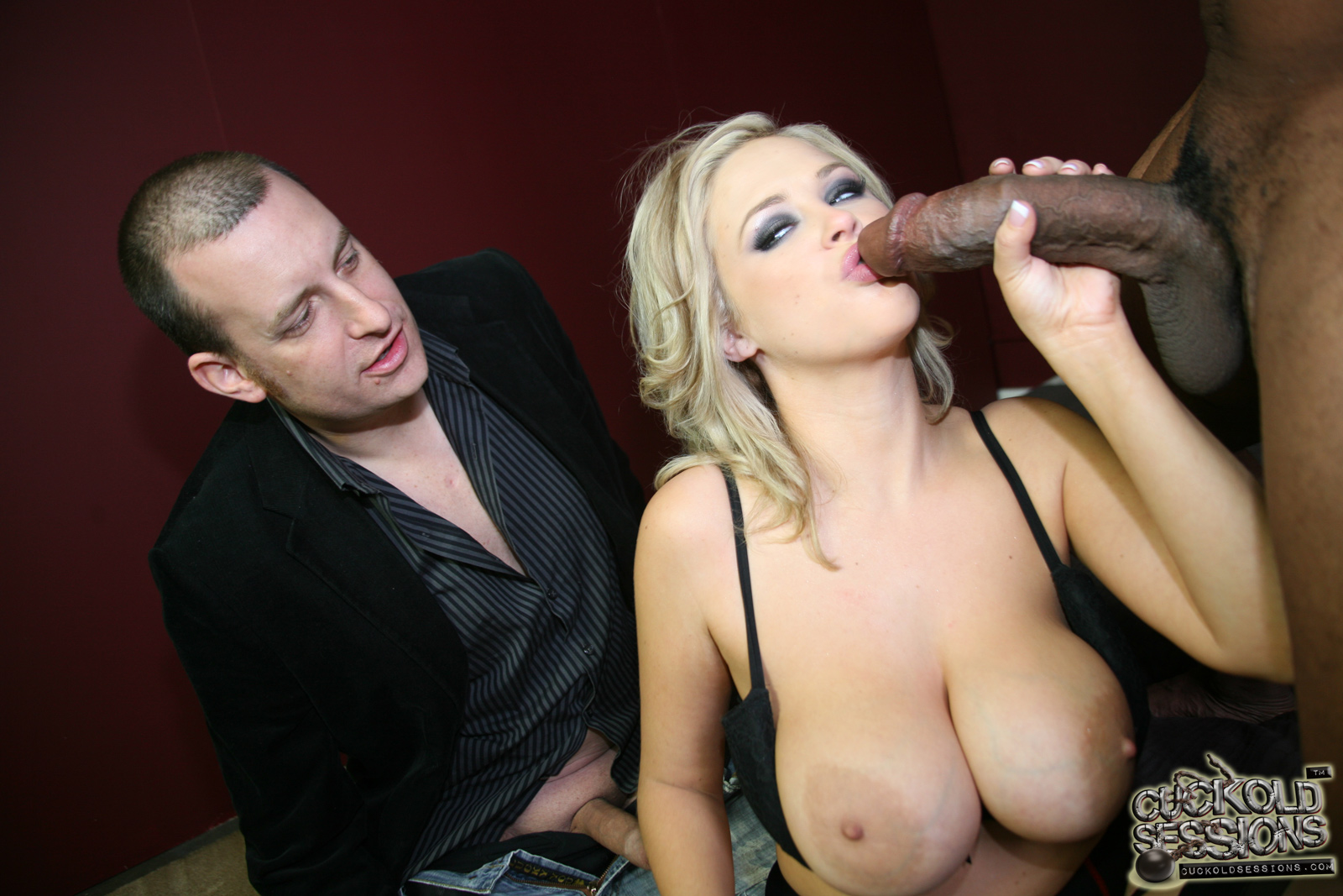 Interracial Cuckold Wedding Pretty blonde babe katie kox with huge tits shows her love for massive