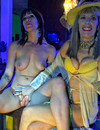 Two completely naked sexy girls gets wrapped up face to face by Dr Susan Block
