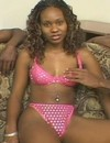 Harlot ebony chick beads furry pussy on pecker and sucks it like a lollypop to g