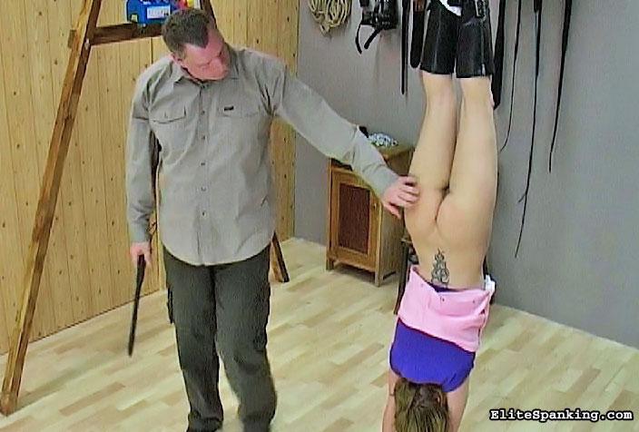 Upside down spank