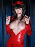 Perfect body fetish model Emily Addison with amazing huge boobs bare all