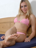 Naughty Barbabra showing sweet feet
