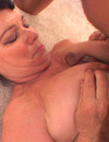 Withered granny sucks dick for cum
