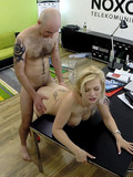 Lovely blonde Barbara gets her pink vagina fucked balls deep by sex obsessed boss