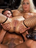 Dirty blonde double ass penetrated