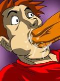 Fantastic cartoon blowjob in close up
