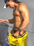 Killer fuck session for two black muscular guys in the gym with cock swallowing