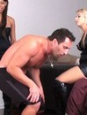 Man gets kicked and tramped with no mercy by two crazy bitches in black boots