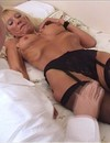 White haired mature woman dressed in black sucks lucky doctor and gets banged