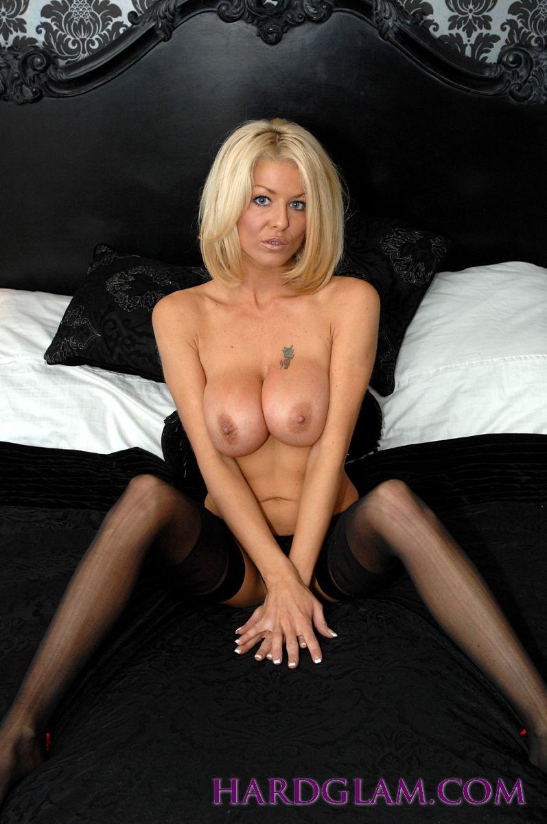 Glamorous mature blonde stockings wife naked