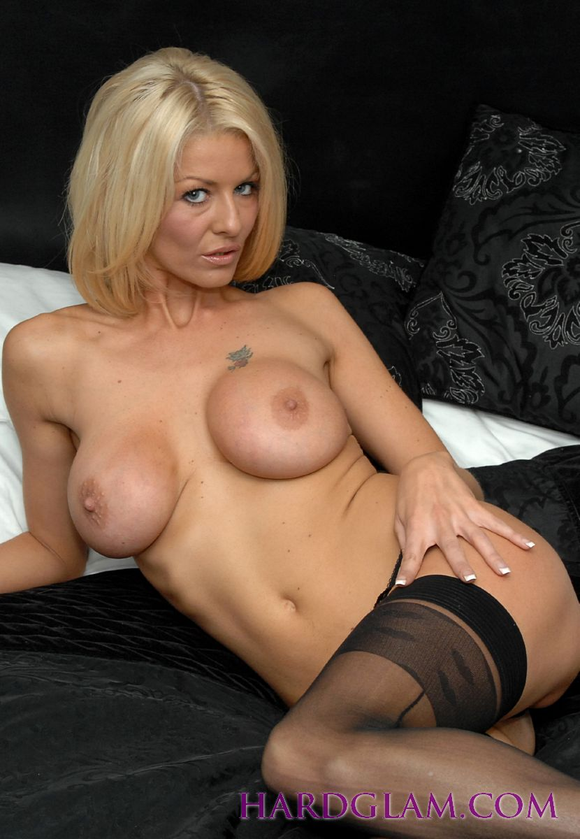 Busty blonde black
