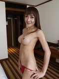 Round tit ladyboy shows her small dick and gets cute face covered in cum