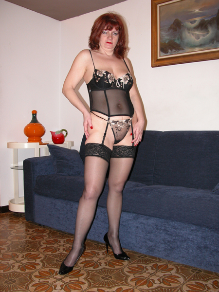 Mature In Black Stockings 72