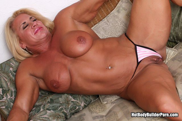 muscle blonde porn