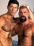 Two huge muscled and dicked men stretch holes of kinky pale skinned partner