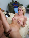 Blonde wife fucks hot blooded ethnic guy like crazy in front of her black hubby