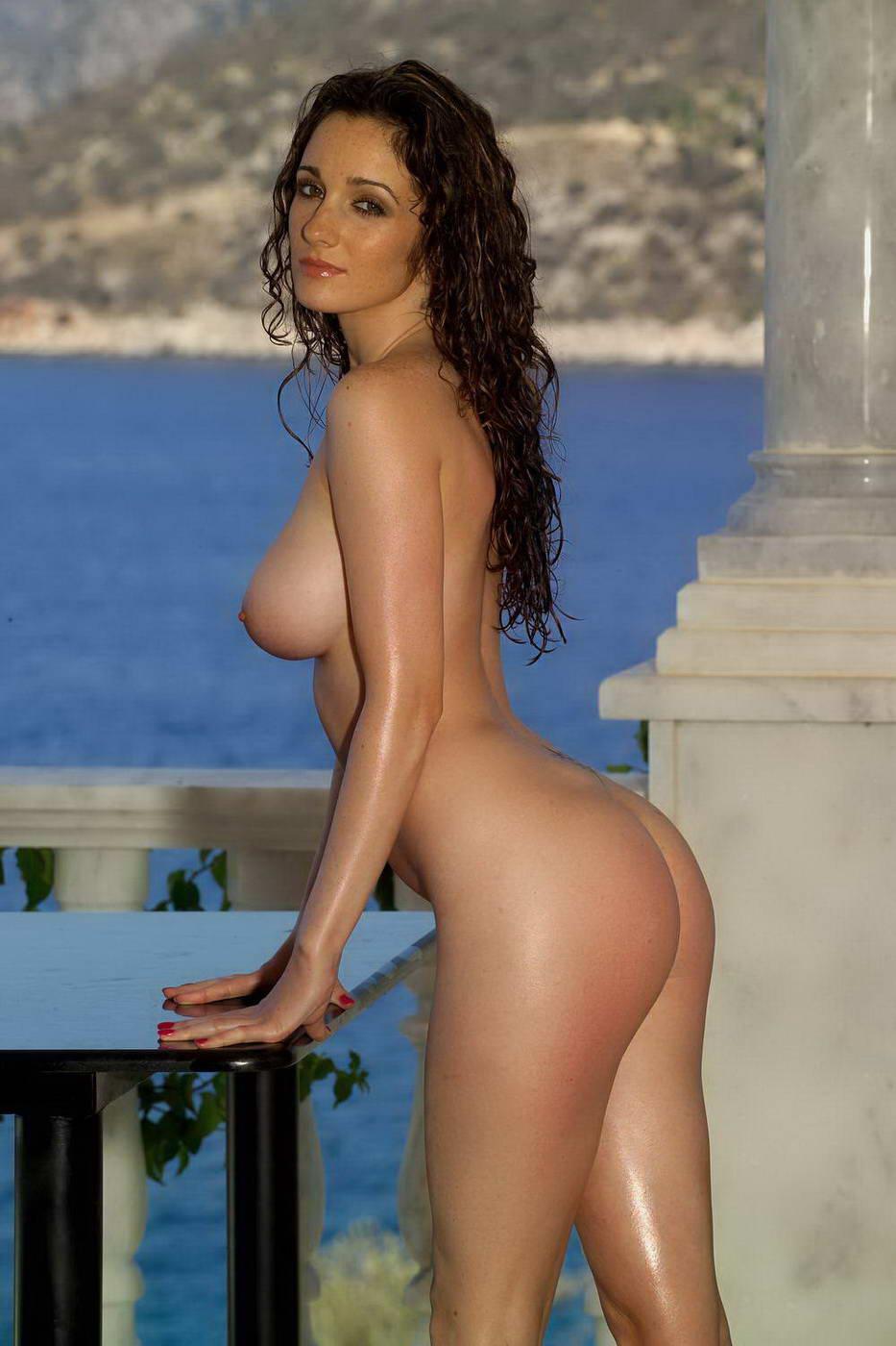 dark haired babe model georgina darbey with perfect big
