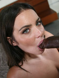 Busty brunette gets picked up from the street to ride big thick black dick in her tight pussy