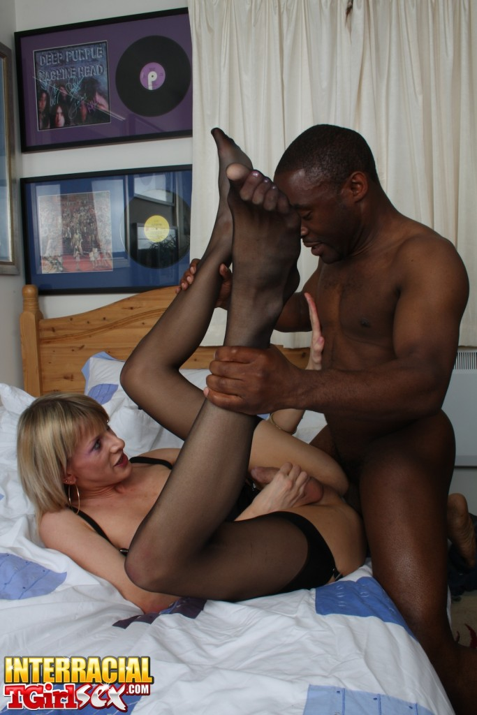 Blonde shemales black stockings