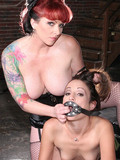 Small titted sexy scout girl gets anally abused by tattooed big boobed redhead l