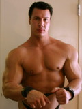 Hunk Casey showing his big thews