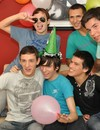 Teenage gay boy Julian and friends celebrate his 18th birthday and go topless at